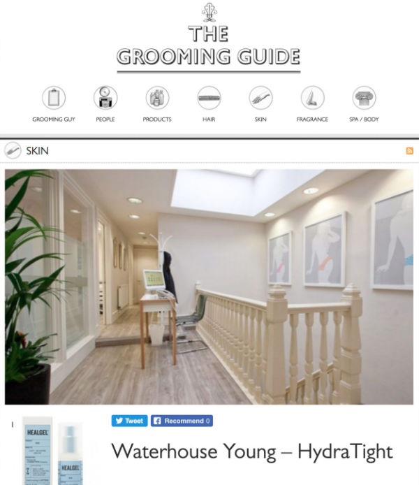 the grooming guide feature on the waterhouse young hydratight treatment