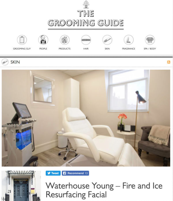 the grooming guide feature on the waterhouse young fire and ice facial
