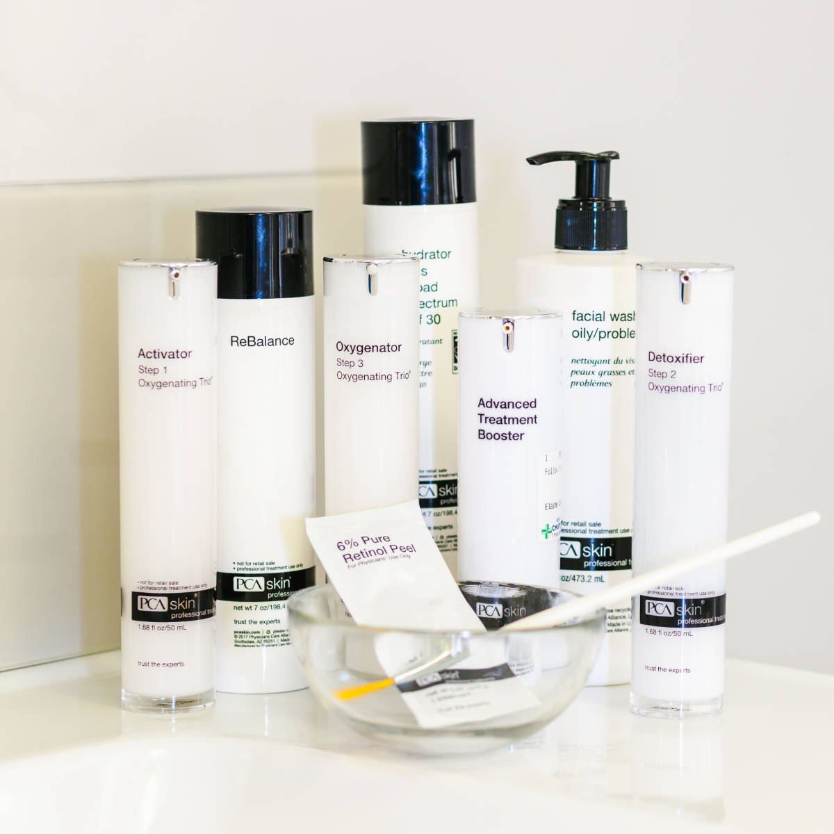 PCA peel products stocked at Waterhouse Young Clinic, London