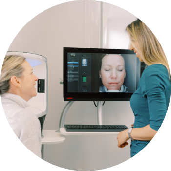 a woman discussing treatment options with a doctor at waterhouse young clinic